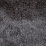 Krzno, umetno, kratkodlako, 17289-23, črno siva
