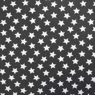 Jersey, pamuk, zvijezde, 17369-7002, siva