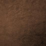Velur coral, kosmaten, 17395-9, rjava