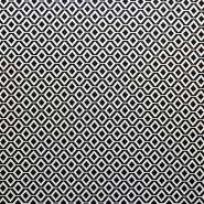 Gewebe, elastisch, geometrisch, 17413-998, schwarz