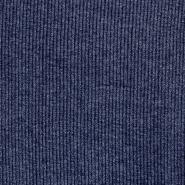 Pletivo, melanž, rebrasto, 17191-007, modra