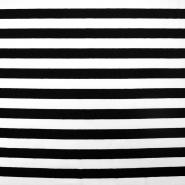 Jersey, bombaž, črte, 17415-001, črna