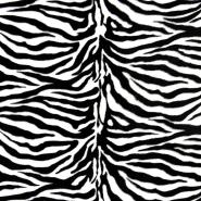 Velur, kosmaten, zebra, 17444-0801