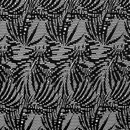 Čipka, elastična, 17445-5001, črna