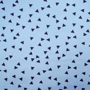 Jersey, bombaž, geometrijski, 17489-695, modra