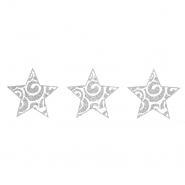 Preslikač, zvezde, 17504-2, srebrna - Svet metraže