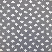 Jersey, pamuk, zvijezde, 17369-3002, siva