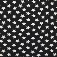 Jersey, bombaž, zvezde, 17369-5001, črna