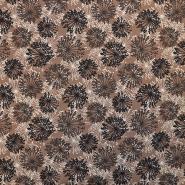 Jersey, bombaž, cvetlični, 17351-3002, rjava