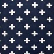 Jersey, organski bombaž, geometrijski, 17194-15
