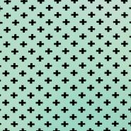 Jersey, organski bombaž, geometrijski, 17518-1020