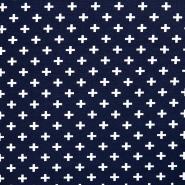 Jersey, organski bombaž, geometrijski, 17518-15