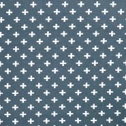 Jersey, organski bombaž, geometrijski, 17518-36