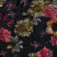 Jersey, bombaž, abstraktni, flock tisk, 17534-017
