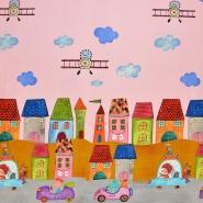 Jersey, bombaž, digital, otroški, 17544-12, roza