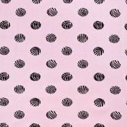 Jersey, bombaž, pike, 17567-12, roza
