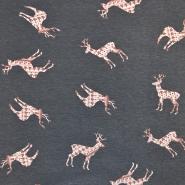 Jersey, bombaž, živalski, 17579-041, siva