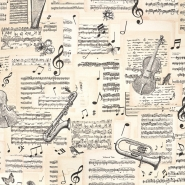 Deko, tisk, glasbeni, 17590-01