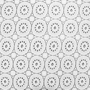 Bombaž, rišelje, pike, 17594-250, bela