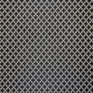 Jacquard, beidseitig, karo, 17603-169, schwazweiß