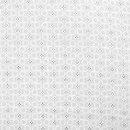 Bombaž, rišelje, krogci, 17609-350, bela