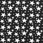 Jersey, bombaž, zvezde, 17613-069, črna