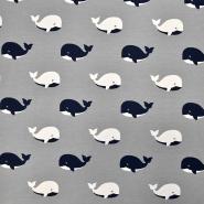 Jersey, bombaž, živalski, 17614-063, siva