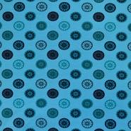 Jersey, bombaž, krogi, 17615-024, turkiz