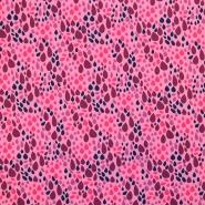 Jersey, bombaž, solzice, 17616-013, roza