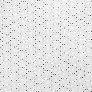Bombaž, rišelje, geometrijski, 17630-001, bela