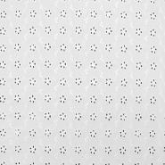 Bombaž, rišelje, cvetlični, 17632-001, bela