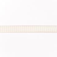 Band, karo, 15mm, 17637-10943, beige