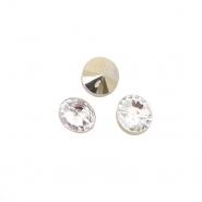 Gumb, kristal, 17643-43768, srebrna