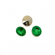 Knopf, Kristall, 17643-43779, grün