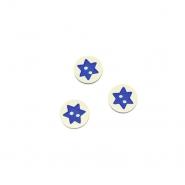 Knopf, 3D Stern, 17644-43255, blau