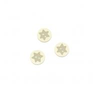 Knopf, 3D Stern, 17644-43261, beige