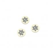 Gumb, 3D zvijezda, 17644-43262, siva