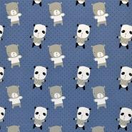 Jersey, bombaž, živalski, 17659-60698, modra