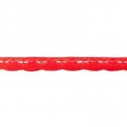 Čipka, bombaž, 21mm, 16199-40493, rdeča