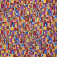 Bombaž, poplin, abstraktni, 17663-21