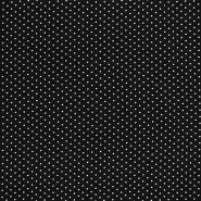 Tkanina, viskoza, pike, 17683-3088, črna