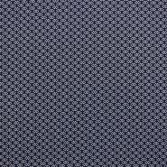 Tkanina, viskoza, geometrijski, 17685-3008, modra