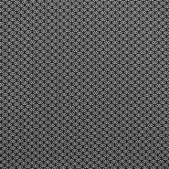 Tkanina, viskoza, geometrijski, 17685-3007, črna