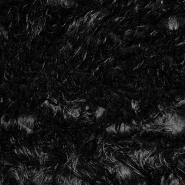 Krzno, umetno, dolgodlako, 17695-5001, črna