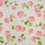 Deko, tisk, cvetlični, 15188-225