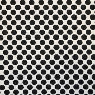 Deko žakard, pike, 17824-01, črno bela