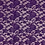 Čipka, elastična, 17830-800, temno vijola