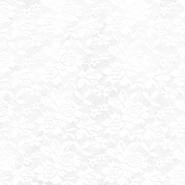Čipka, elastična, 17830-001, bela