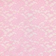 Čipka, elastična, 17830-885, svetlo roza