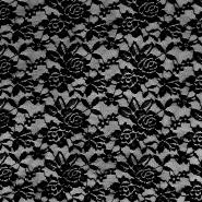 Čipka, elastična, 17830-999, črna